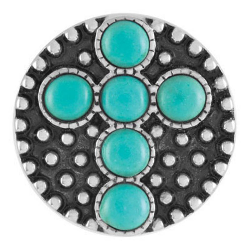 Ginger Snaps Turquoise Cross Snap