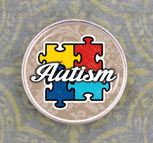 Autism Awareness Button/snap