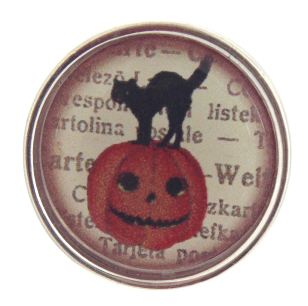 Cat - Pumpkin Snap Button