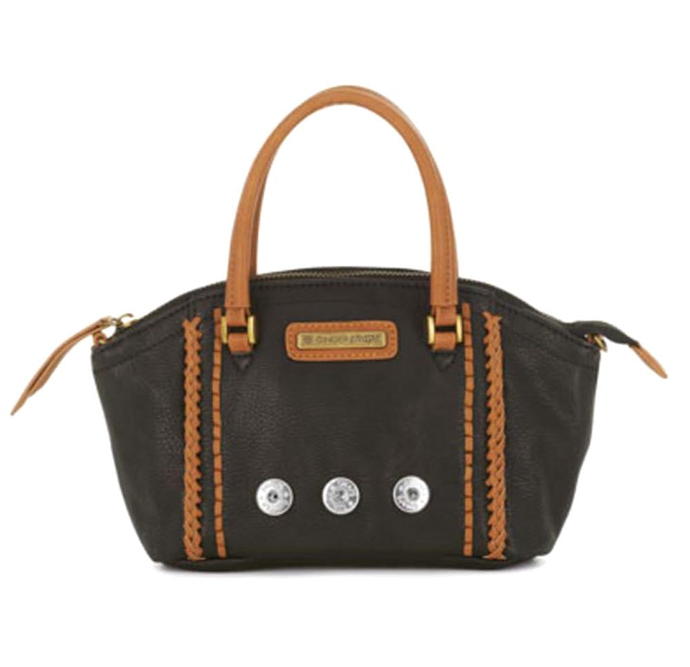 Ginger Snaps Sierra Top Handle Mini Satchel-Black