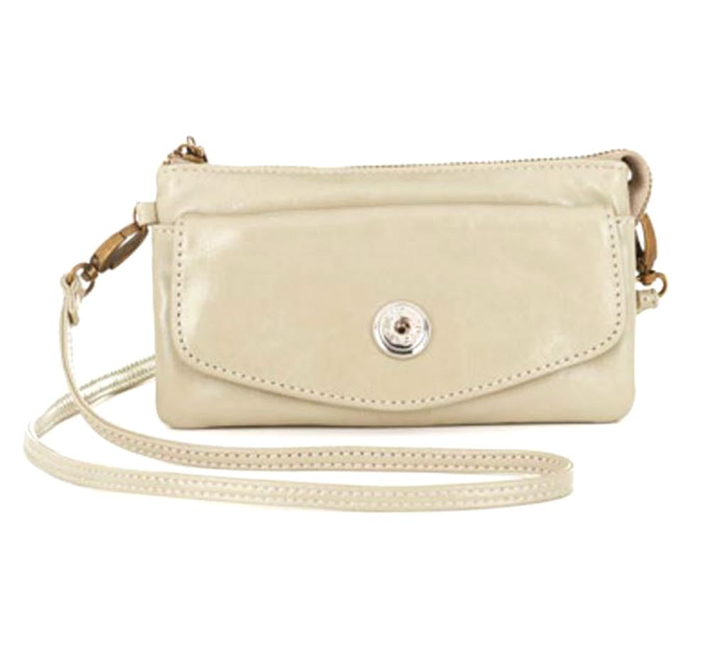 Ginger Snaps Lily Flapover Clutch-Grey