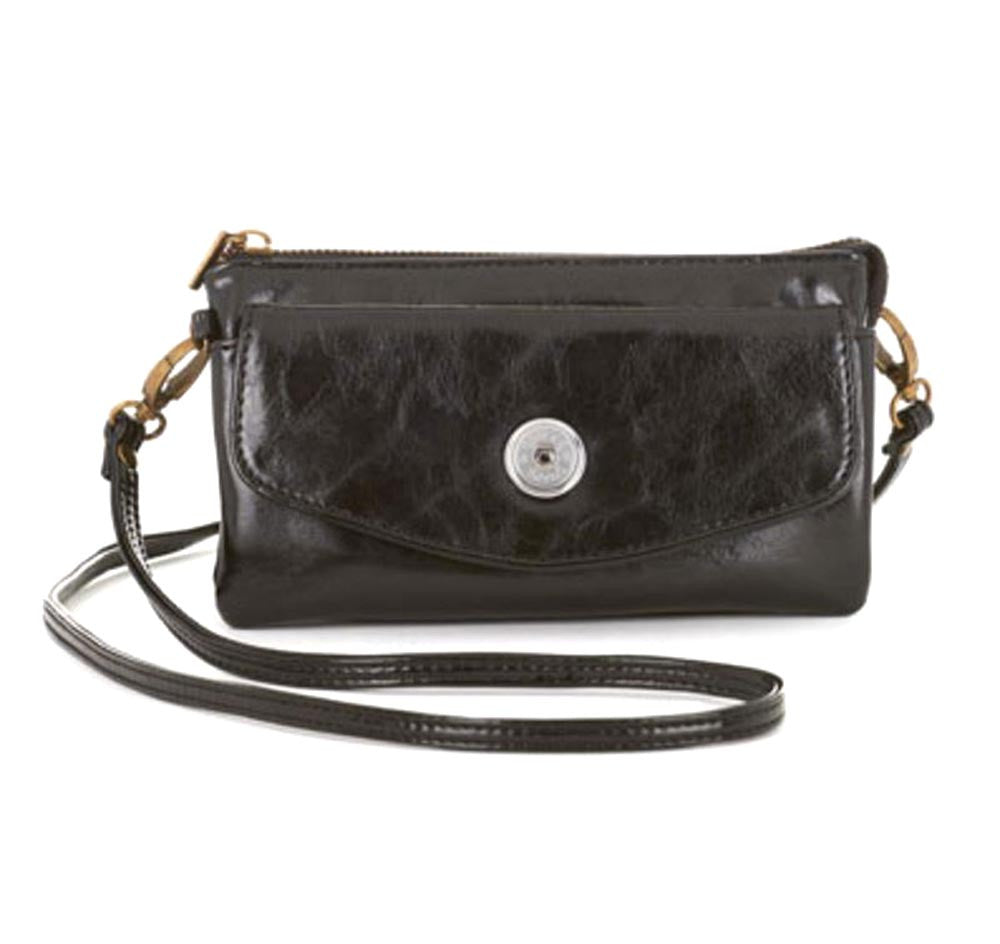 Ginger Snaps Lily Flapover Clutch-Black