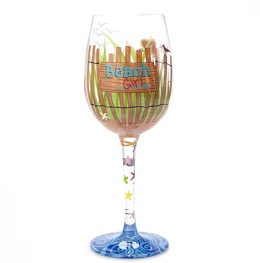 Lolita Beach Girl Wine Glass