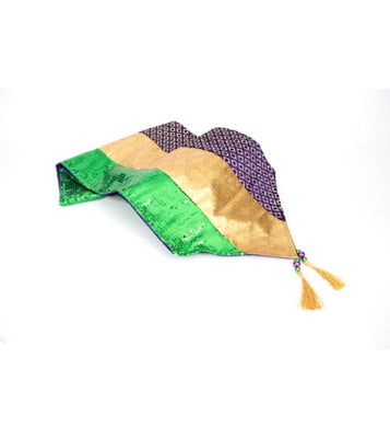 Mardi Gras Table Runner-Striped