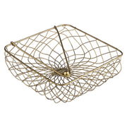 Antique Gold Handwoven Wire Napkin Holder