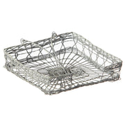 Antique Grey Handwoven Wire Napkin Holder