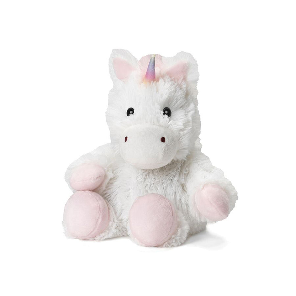"Warmies® 9"" Junior White Unicorn"