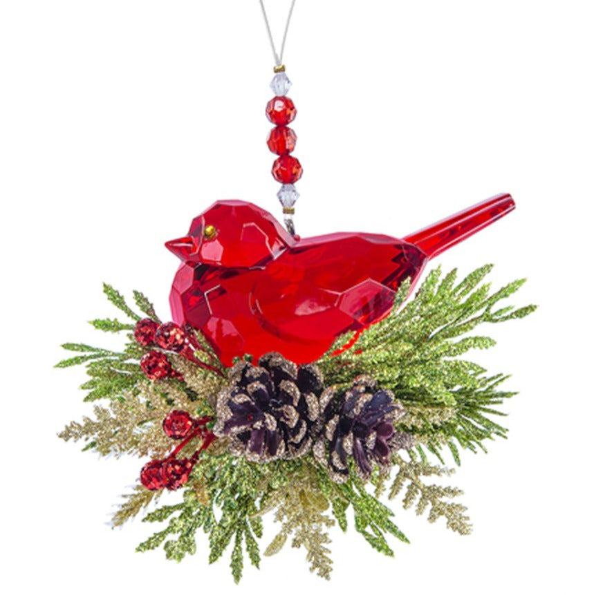 Krystal Pine Bird Ornament