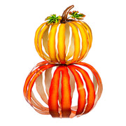 Stacked Pumpkin Metal Statuary