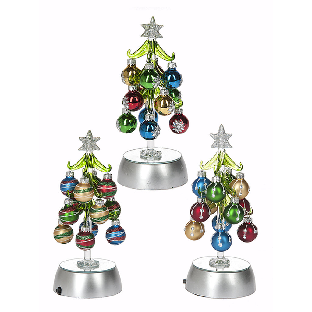 Christmas Trees with Ornaments - Light Up Trees