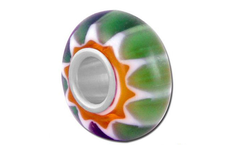 Millefiori Mille Earth Glass Bead - Green