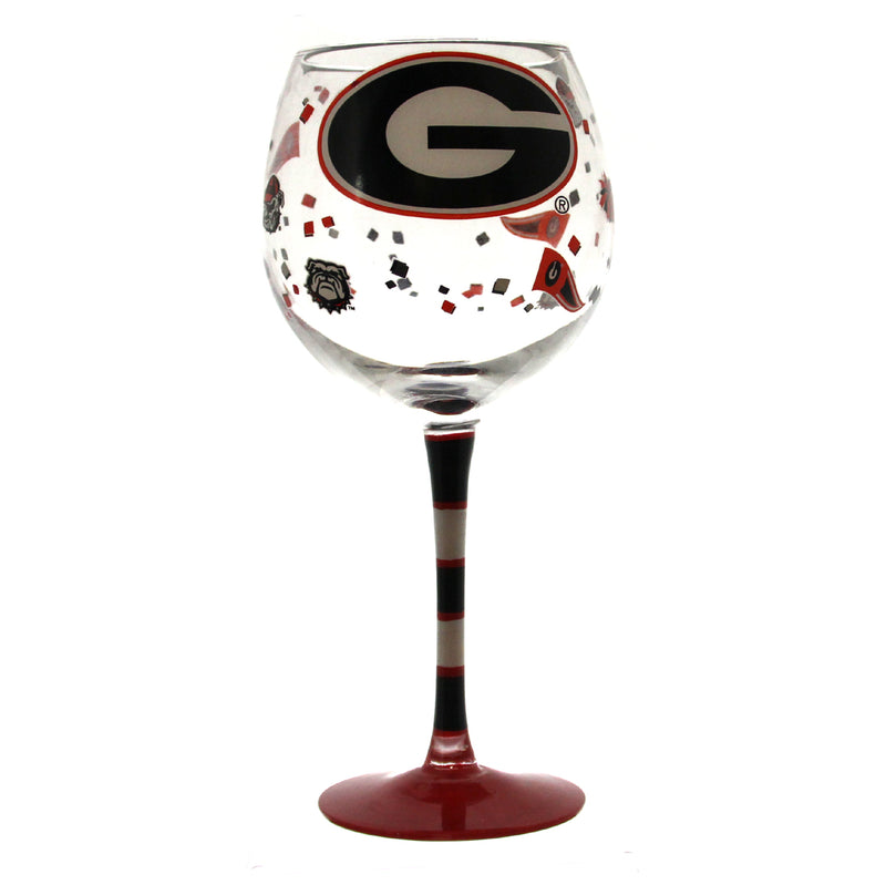 Georgia Bulldogs Wine Glass
