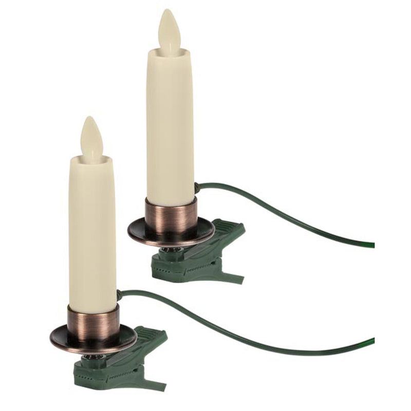 Additional LED Clip Taper Ornaments w/ Connecting Cord (2 pc. set)