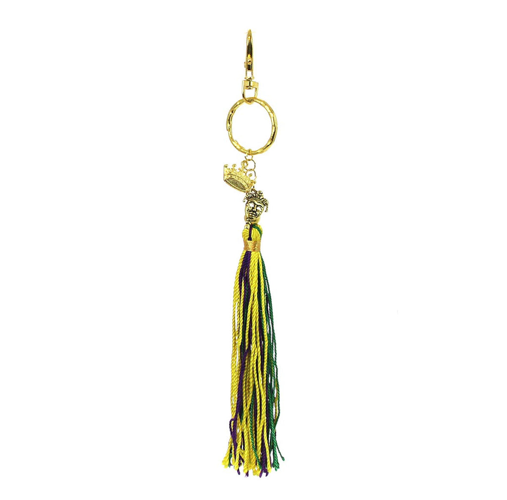 Mardi Gras Tassel Key Chain Jester/Crown