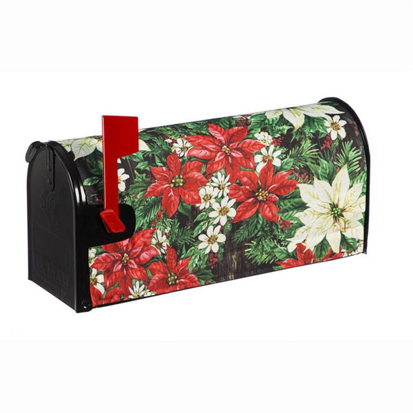 Joy to the World Poinsettia Mailbox Cover