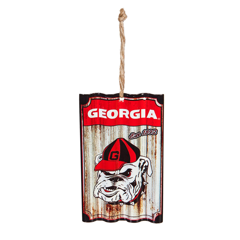 University of Georgia, Metal Corrugated Ornament