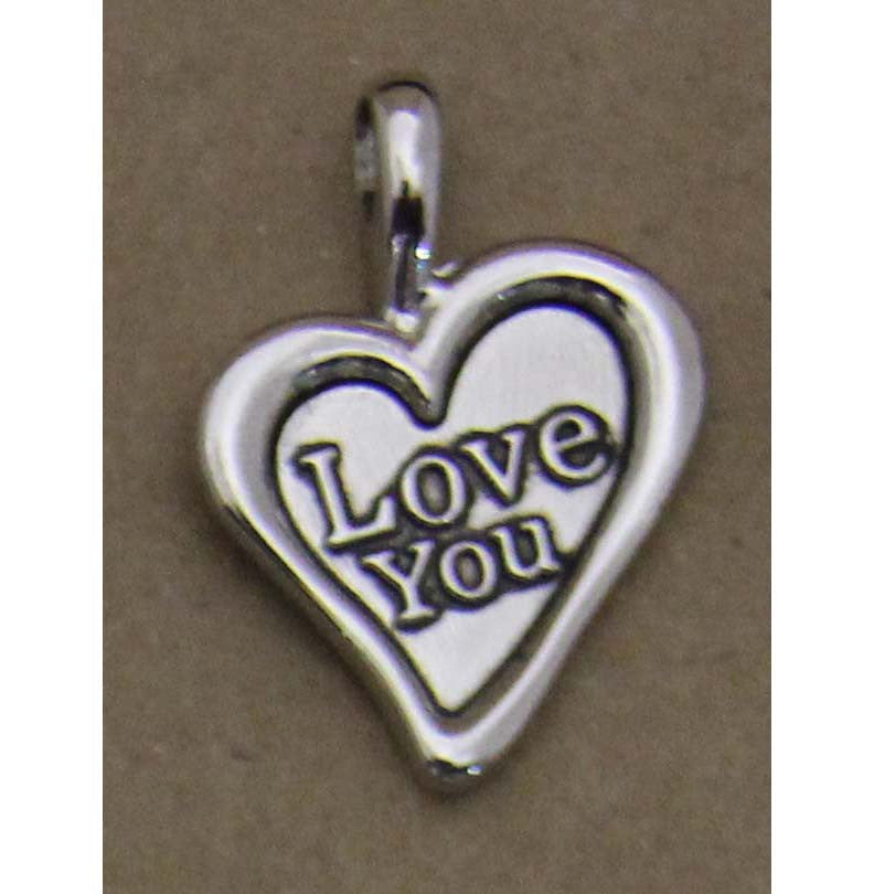 Charm Embossed Heart I Love You