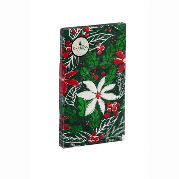 Paper Guest Towels Green Holly Pattern