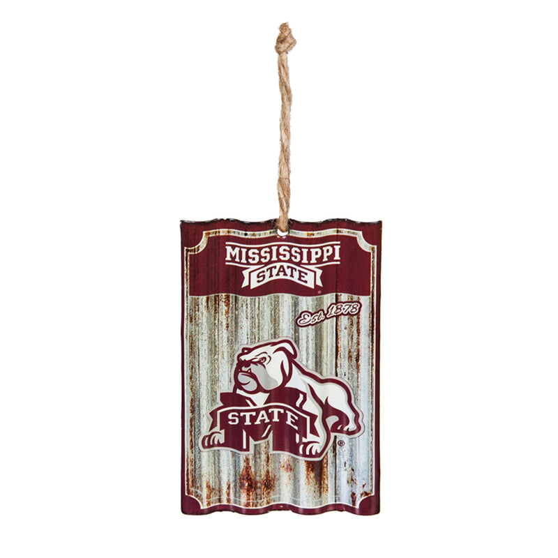 Mississippi State University, Metal Corrugated Ornament