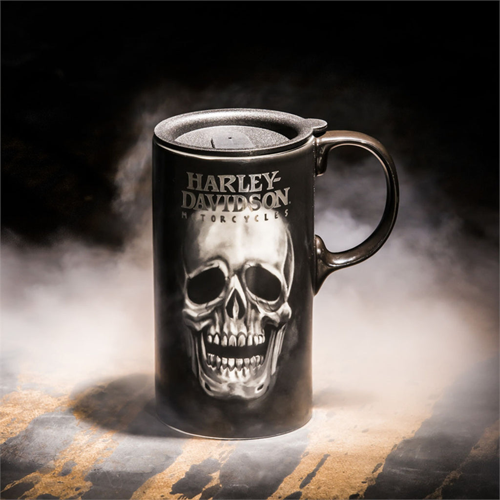 Harley Davidson  Skull Ceramic Travel Cup w/box