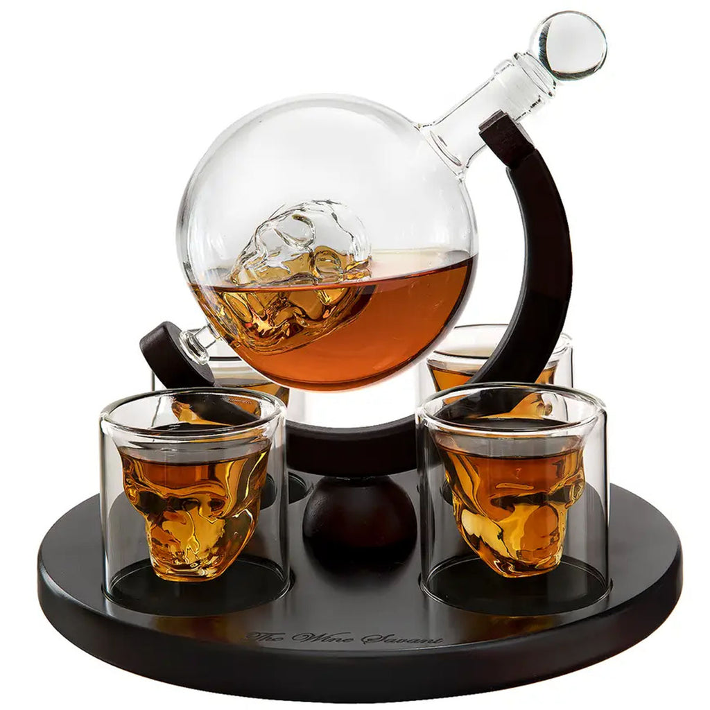 Skull 4-2 Decanter Set