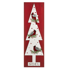 Noel Tree w/cardinals Wall Decor