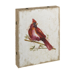 Cardinal Canvas Wall Plaque