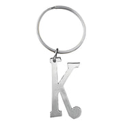 Monogram Key Ring - k silver