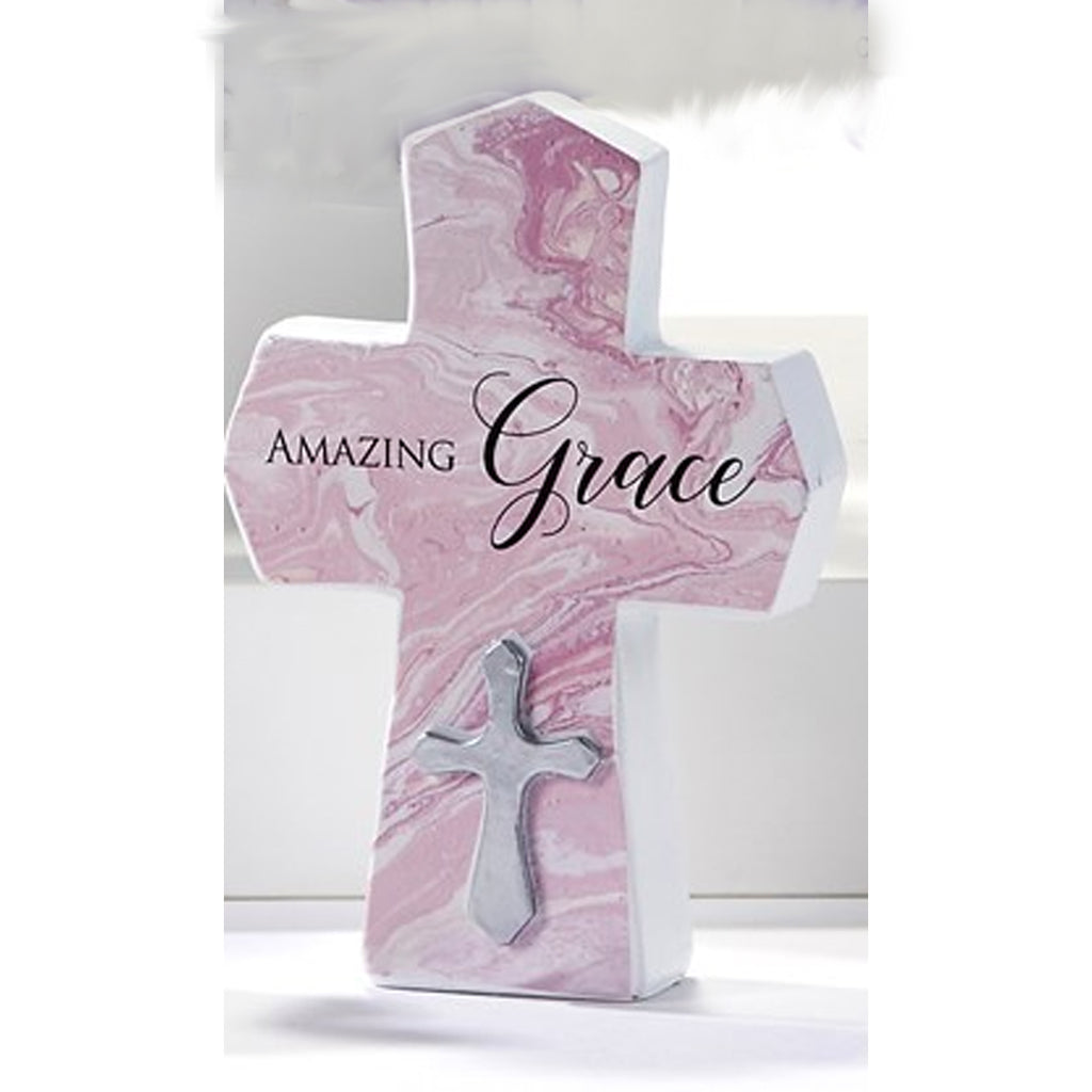 "Mini Cross Figurine, ""Amazing Grace"""