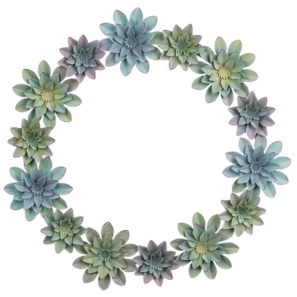 Succulent Metal Wreath
