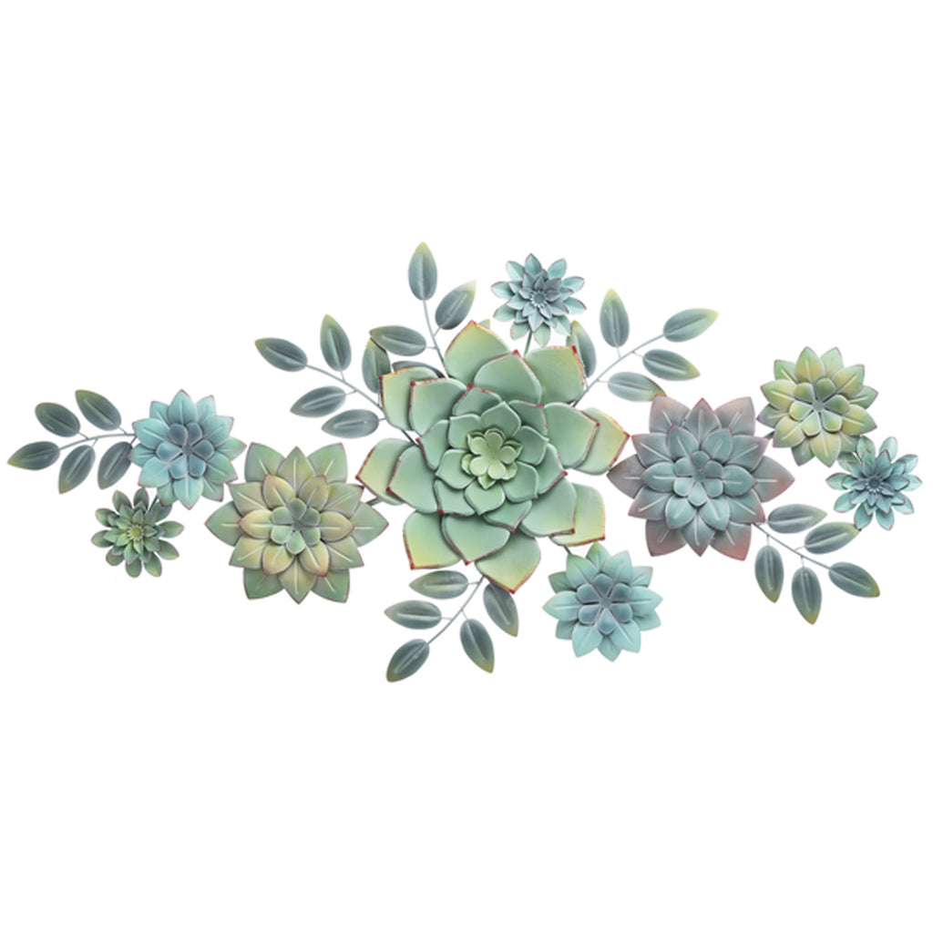 Layered Metal Succulent Wall Decor