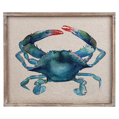 Framed Crab Watercolor Wall Decor