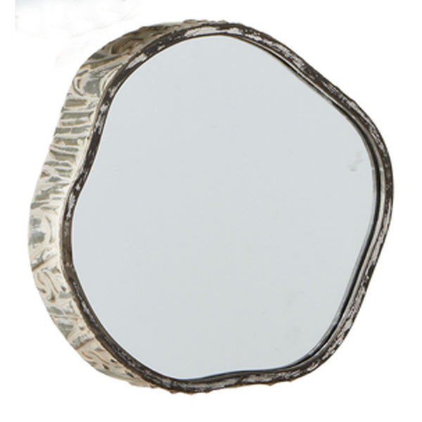 "10"" Wood Slice Mirror"