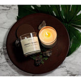 Smoky Quartz Crystal Soy Candle