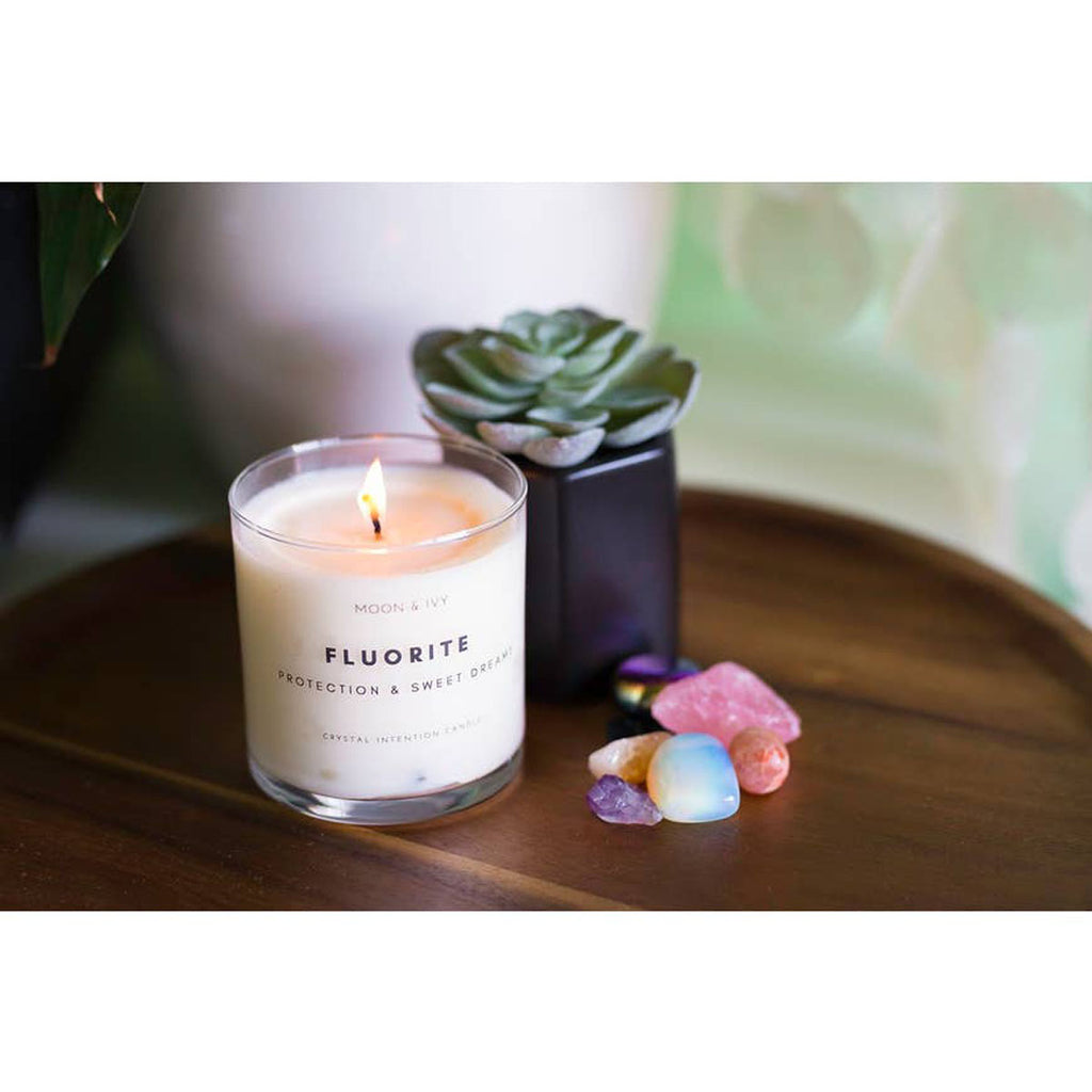 Fluorite Crystal Soy Candle