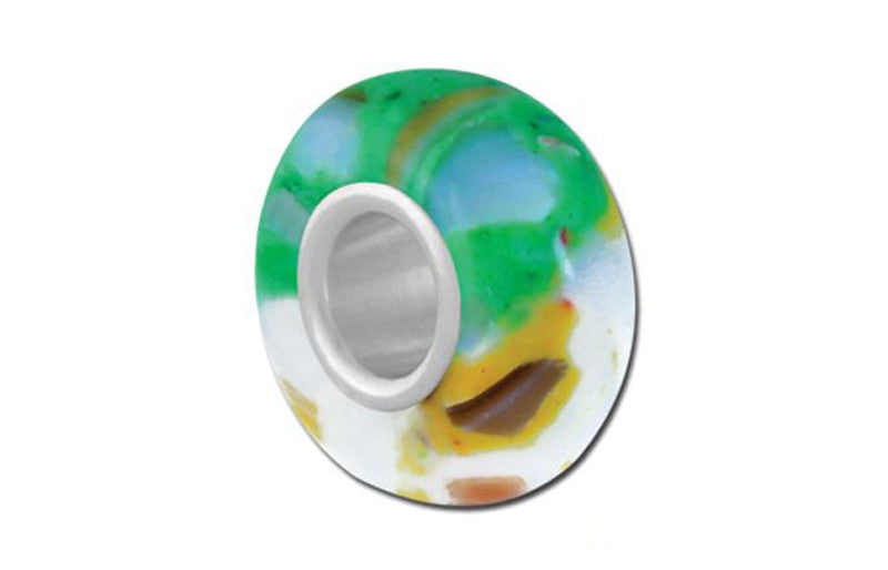 Skylark T.V. Dinner Glass Bead - Green
