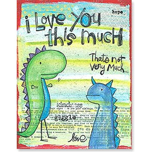 Card: I Love You this much (dinosaurs)