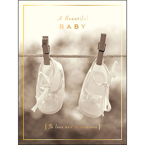 New Baby Card A Beautiful Baby