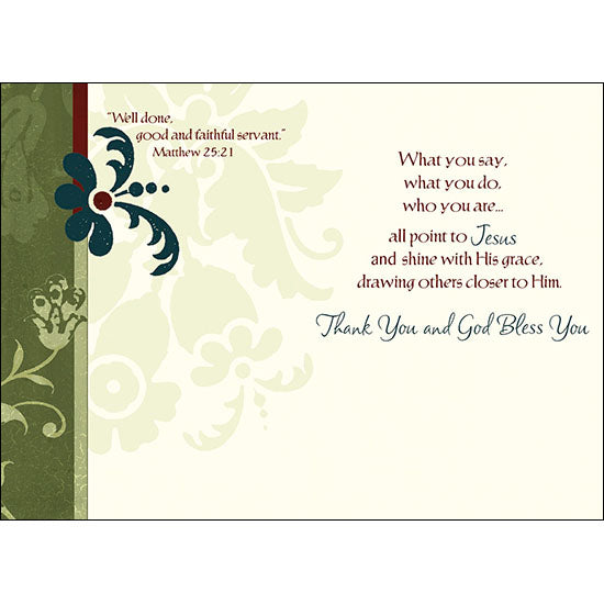 "Ministry Appreciation Card, ""You are making a difference"""