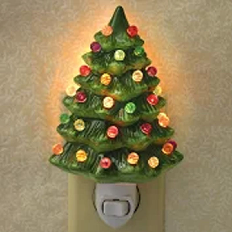 Ceramic Christmas Tree Nightlight