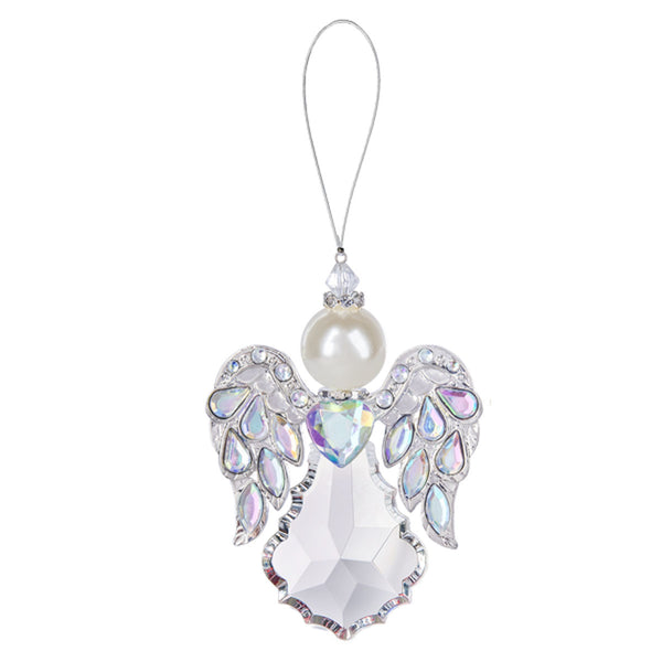 "4.5"" Heavenly Angel Ornament , Silver"