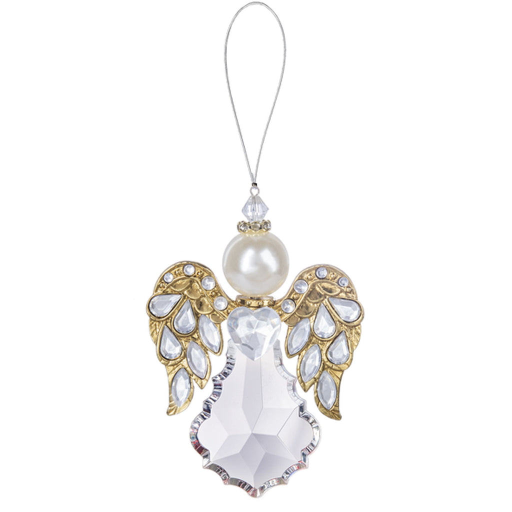 "4.5"" Heavenly Angel Ornament , Gold"