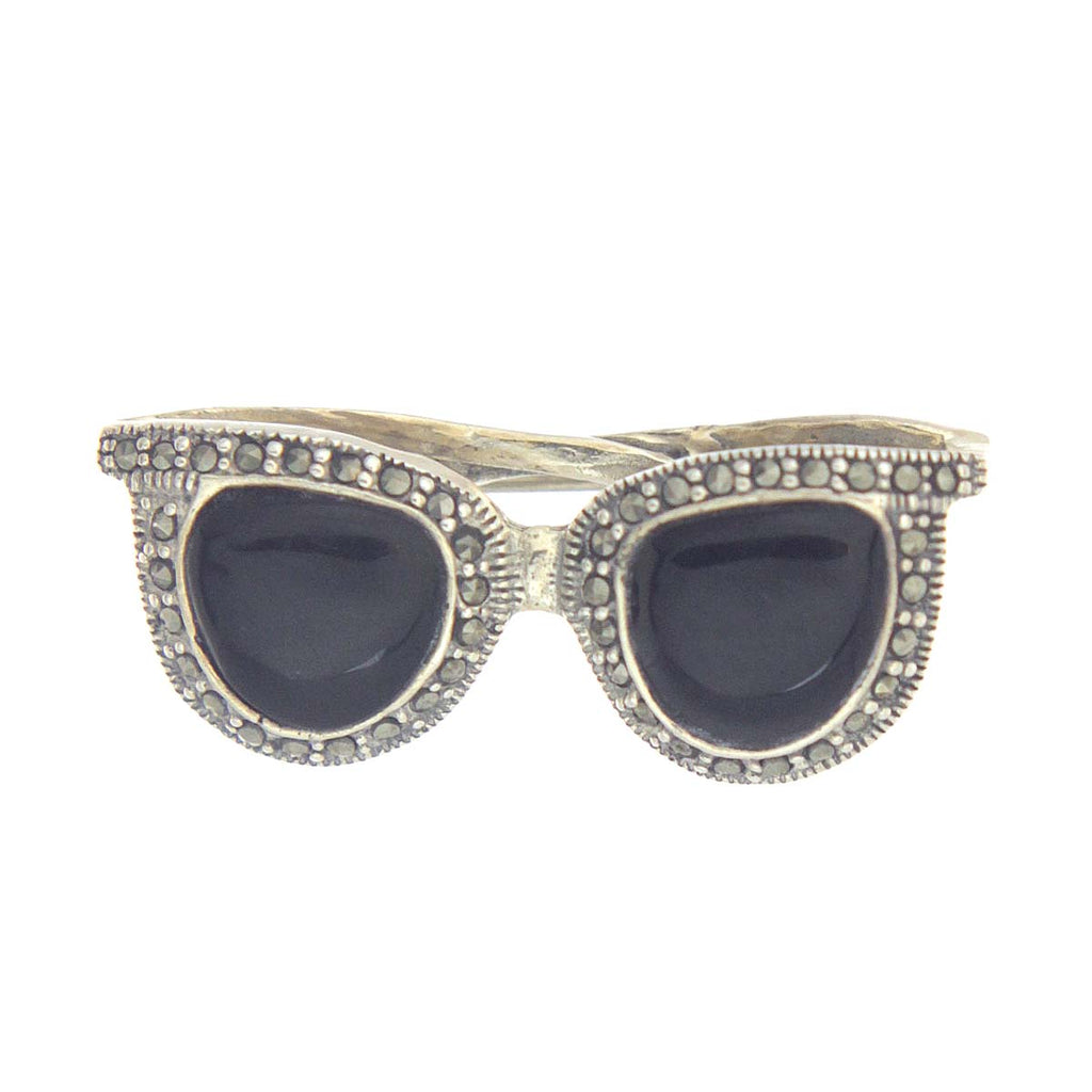 Sunglasses Pin Black Onyx Sterling Silver