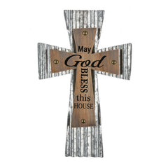 "Urban Cross,  ""May God bless this house"""