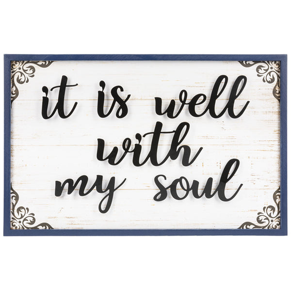 """It is Well with My Soul"" Wall Plaque"