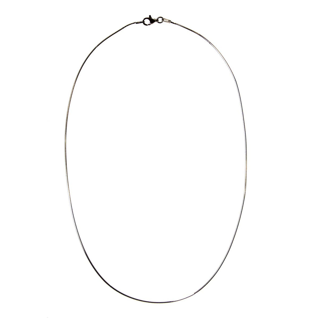 "Round Omega Necklace 16"" 1mm"