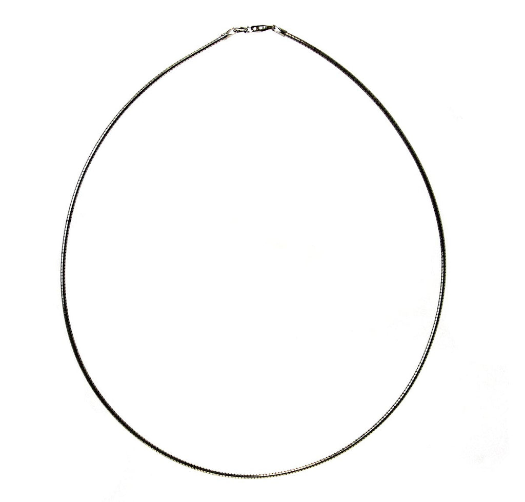 "Round Omega Necklace 16"" 1.5mm"