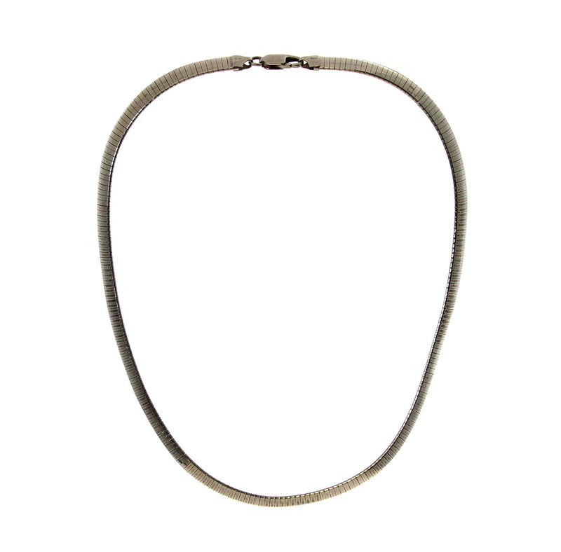 "Sterling Silver 18"" Domed Omega (8mm) Necklace"