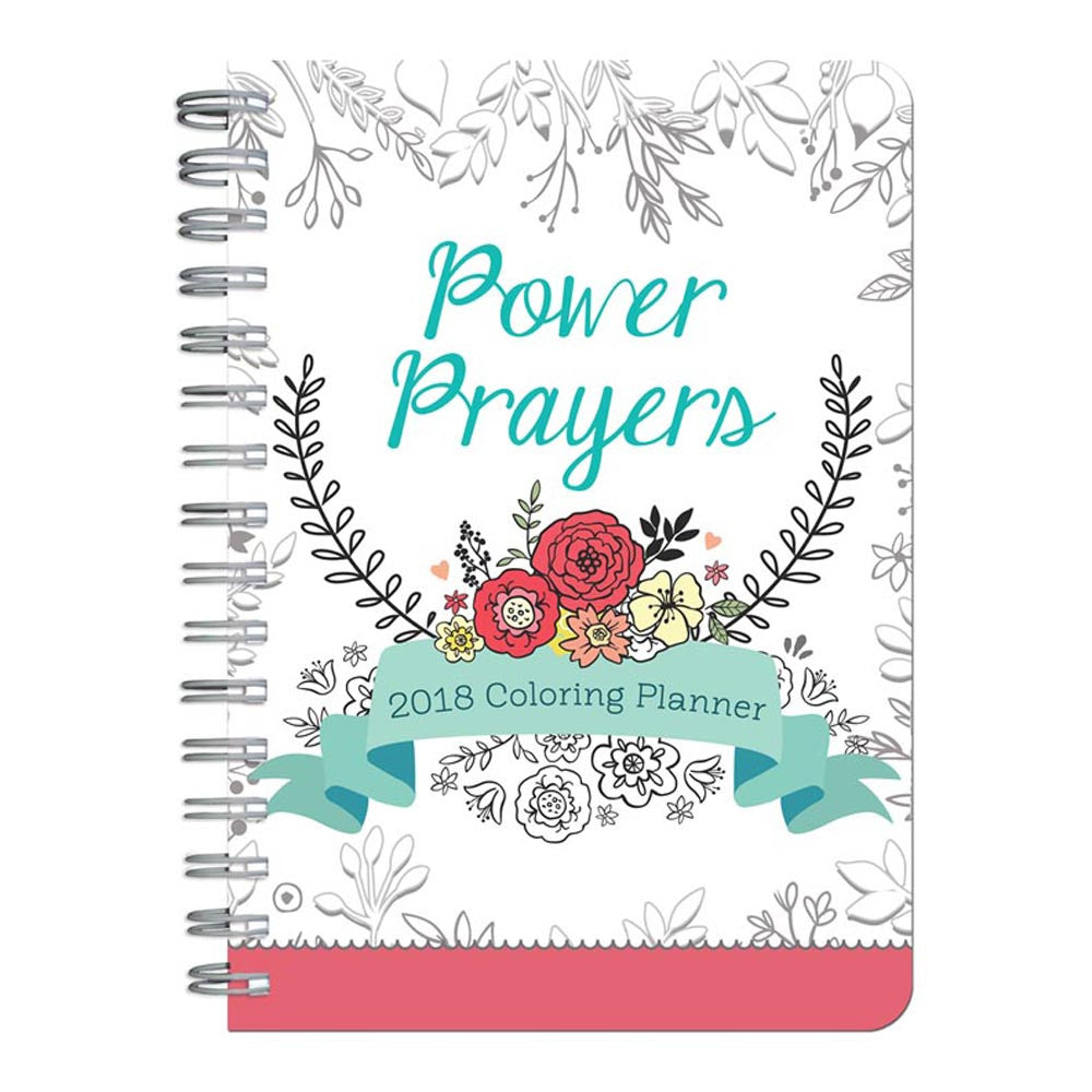 2018 Power Prayers Coloring Planner