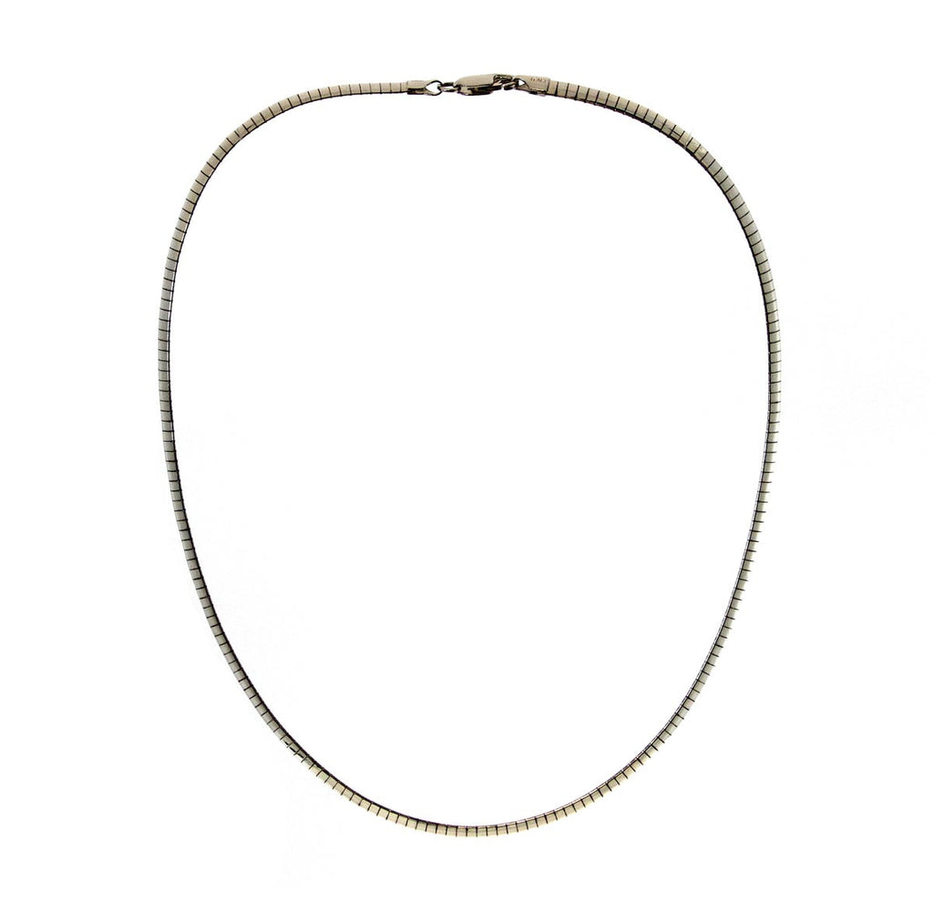 "Sterling Silver 18"" Domed Omega Collar (6mm)"